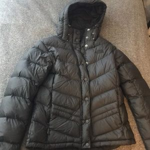 The North Face women's black puffer coat